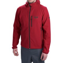Mountain Hardwear Zone 5 Soft Shell Jacket (For Men) in Mountain Red/Shark - Closeouts