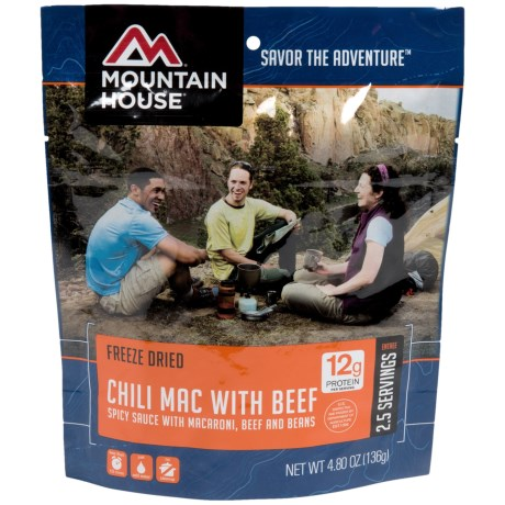 Mountain House Chili Mac with Beef - 2-Person in See Photo