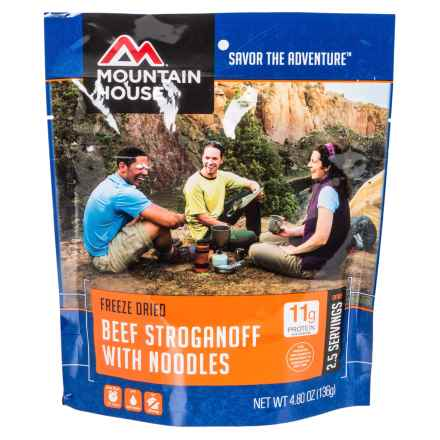 Mountain House Freeze-Dried Beef Stroganoff Meal - 2.5 Servings in See Photo - Closeouts