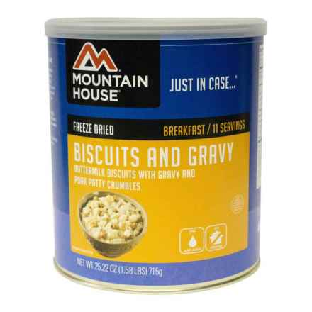 Mountain House Freeze-Dried Biscuits and Gravy Meal - 11 Servings in See Photo - Closeouts
