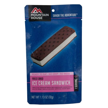 Mountain House Freeze-Dried Ice Cream Sandwich - 1 Serving in See Photo