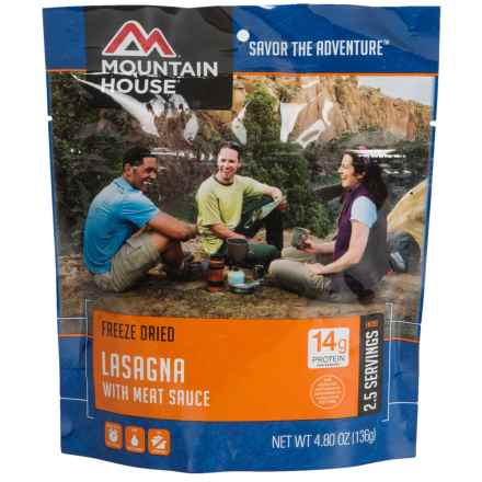 Mountain House Freeze-Dried Lasagna with Meat Sauce - 2.5 Servings in See Photo - Closeouts