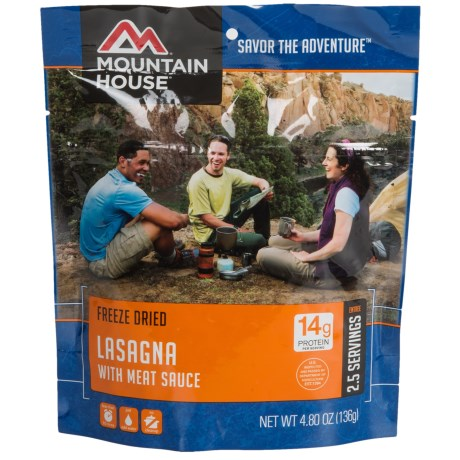 Mountain House Freeze-Dried Lasagna with Meat Sauce - 2.5 Servings in See Photo