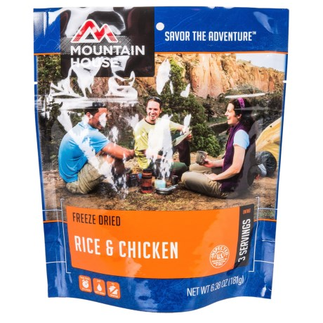 Mountain House Freeze-Dried Rice and Chicken Meal - 3 Servings in See Photo
