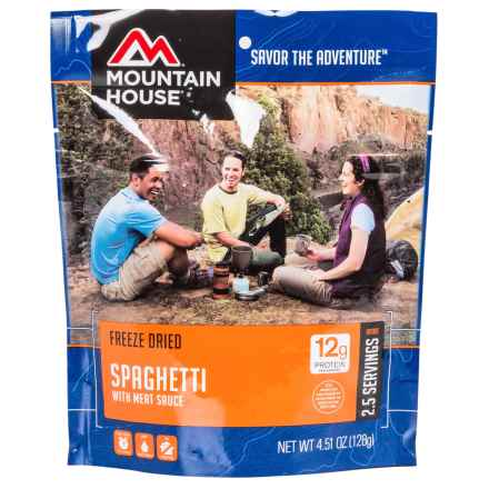 Mountain House Freeze-Dried Spaghetti w/meat sauce Meal - 2-Person in See Photo - Closeouts