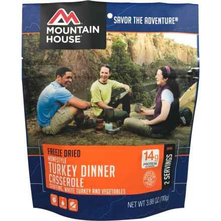 Mountain House Freeze-Dried Turkey Dinner Casserole - 2 Servings in See Photo - Closeouts