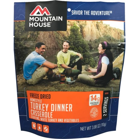 Mountain House Freeze-Dried Turkey Dinner Casserole - 2 Servings in See Photo