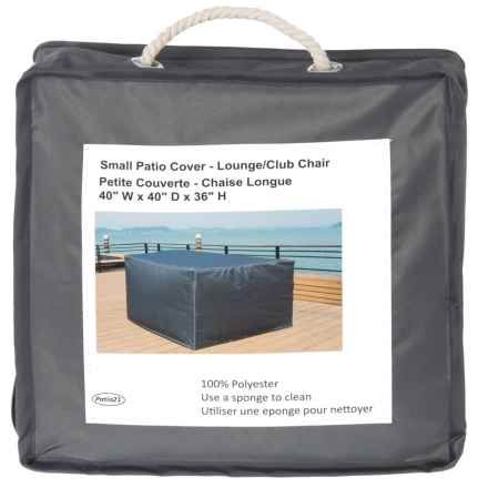 "Mountain House Furniture Patio Chair Cover - 40x40x36"" in Grey - Closeouts"