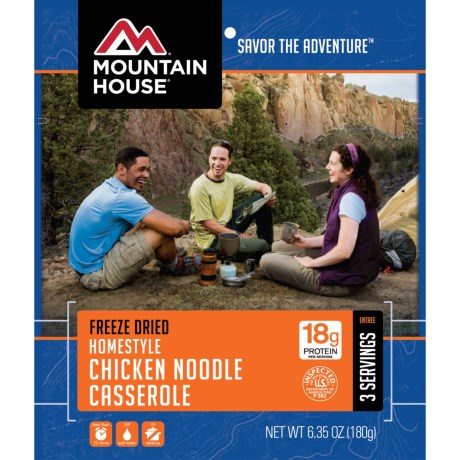 Mountain House Homestyle Chicken Noodle Casserole - 3 Servings in See Photo