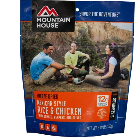 Mountain House Mexican-Style Rice and Chicken - 3 Servings in See Photo