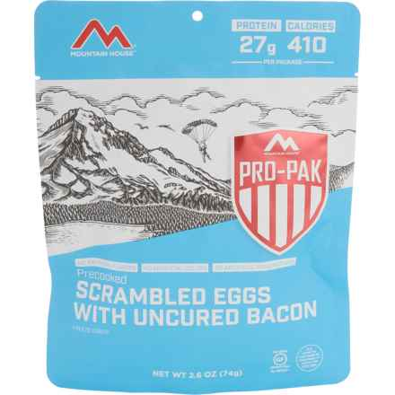Mountain House Precooked Scrambled Eggs with Bacon Pro-Pak Meal - Single Serving