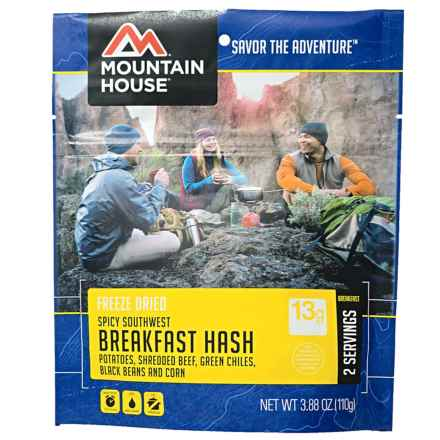 Mountain House Spicy Southwest Breakfast Hash - 2 Servings in See Photo - Closeouts