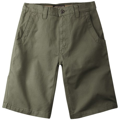 Mountain Khakis Alpine Utility Shorts - Cotton Canvas (For Men) in Pine