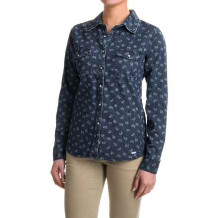 Mountain Khakis Annie Stretch-Denim Shirt - Snap Front, Long Sleeve (For Women) in Floral Print - Closeouts