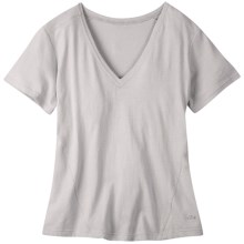 Mountain Khakis Anytime V-Neck T-Shirt - Cotton-Linen, Short Sleeve (For Women) in Vapor - Closeouts