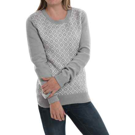 Mountain Khakis Bridger Sweater - Cotton-Wool, Scoop Neck (For Women) in City Block - Closeouts