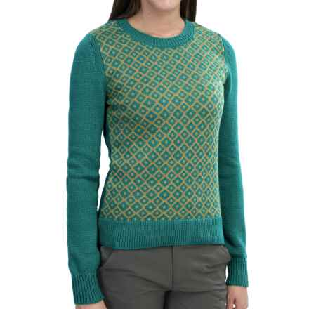 Mountain Khakis Bridger Sweater - Cotton-Wool, Scoop Neck (For Women) in Emerald/Burnished Gold - Closeouts