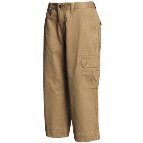 Mountain Khakis Cargo Capri Pants - Teton Twill, Slim Leg (For Women) in Willow