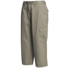 Mountain Khakis Cargo Capri Pants - Teton Twill, Slim Leg (For Women) in Willow - Closeouts