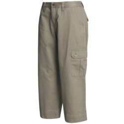 Mountain Khakis Cargo Capri Pants - Teton Twill, Slim Leg (For Women) in Retro Khaki