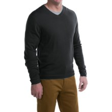 Mountain Khakis Cascade Sweater - Merino Wool, V-Neck (For Men) in Black - Closeouts