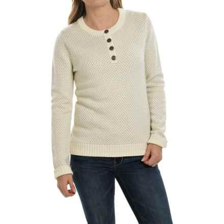 Mountain Khakis Cheyenne Henley Sweater - Merino Wool (For Women) in Cream - Closeouts