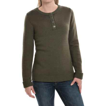 Mountain Khakis Cheyenne Henley Sweater - Merino Wool (For Women) in Field Green - Closeouts