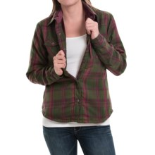 Mountain Khakis Christi Fleece-Lined Shirt - Snap Front, Long Sleeve (For Women) in Rainforest - Closeouts