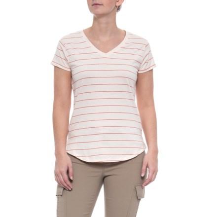 05732b03 Mountain Khakis Cora T-Shirt - Short Sleeve (For Women) in Haze Stripe