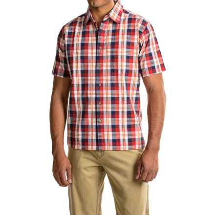 Mountain Khakis Deep Creek Crinkle Shirt - Short Sleeve (For Men) in Siren Multi - Closeouts