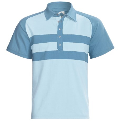 Mountain Khakis Fairway Polo Shirt - Short Sleeve (For Men) in High Tide/Morning Sky