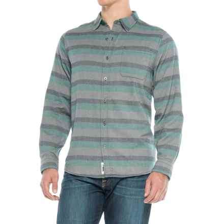 Mountain Khakis Fall Line Flannel Shirt - Long Sleeve (For Men) in Deep Jade - Closeouts