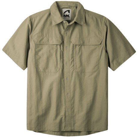 Mountain Khakis Granite Creek Shirt - UPF 50+, Peached Nylon, Short Sleeve (For Men) in Truffle