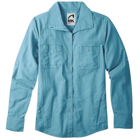 Mountain Khakis Granite Creek Shirt - UPF 50+, Roll-Up Long Sleeve (For Women) in Pool Blue