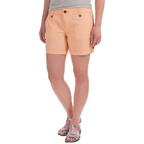 Mountain Khakis Island Shorts (For Women) in Peachy