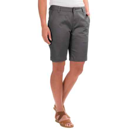 Mountain Khakis Lake Lodge Stretch-Twill Shorts (For Women) in Granite - Closeouts