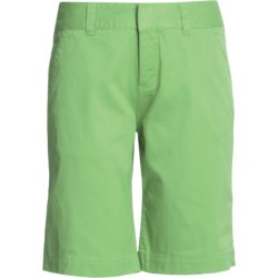Mountain Khakis Lake Lodge Twill Shorts (For Women) in Mint Julep