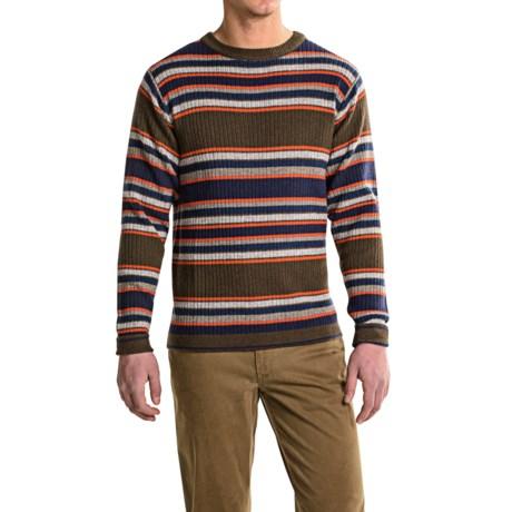 Mountain Khakis Lodge Crew Neck Sweater - Merino Wool (For Men) in Stripe