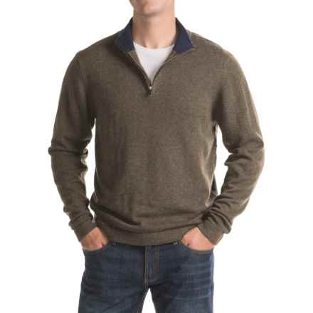 Mountain Khakis Lodge Sweater - Merino Wool, Zip Neck (For Men) in Coffee - Closeouts