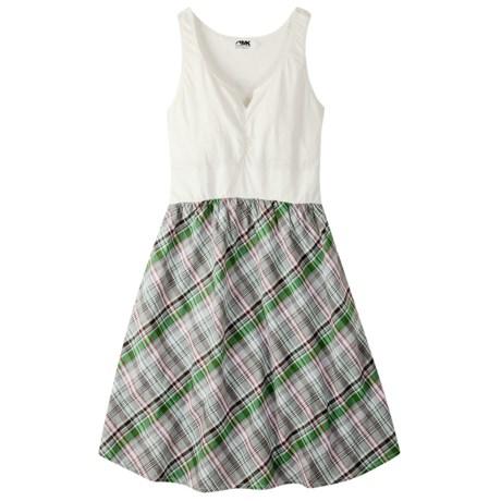 Mountain Khakis Oxbow Dress- Cotton Slub Knit, Sleeveless (Women) in Russet Multi
