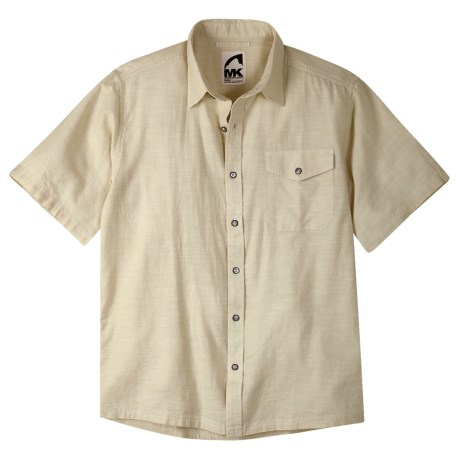 Mountain Khakis Oxbow Shirt - Short Sleeve (For Men) in Sand Chambray