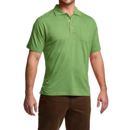 Mountain Khakis Patio Polo Shirt - Short Sleeve (For Men) in Mint - Closeouts