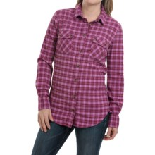Mountain Khakis Peaks Flannel Shirt - Long Sleeve (For Women) in Hollyhock - Closeouts