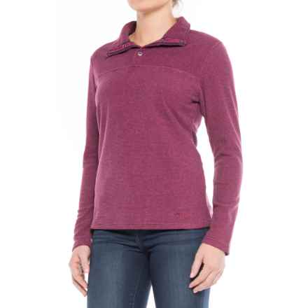 Mountain Khakis Pop Top Fleece Shirt - Long Sleeve (For Women) in Hollyhock - Closeouts