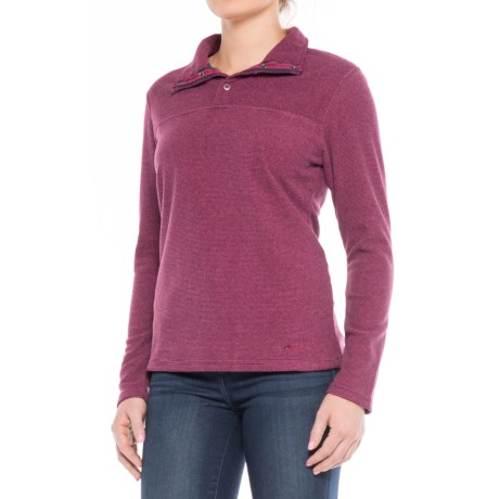 Mountain Khakis Pop Top Fleece Shirt - Long Sleeve (For Women) in Hollyhock
