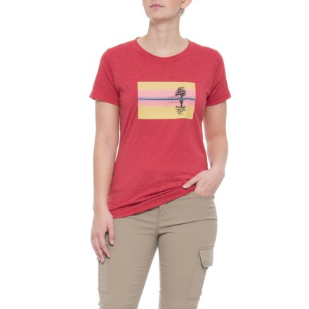 50ee30b3 Mountain Khakis Reflect T-Shirt - Short Sleeve (For Women) in Red Heather