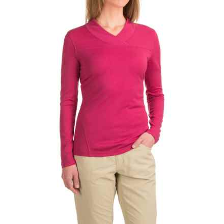 Mountain Khakis Rendezvous Micro Wrap Neck Shirt - Merino Wool, Long Sleeve (For Women) in Sangria - Closeouts