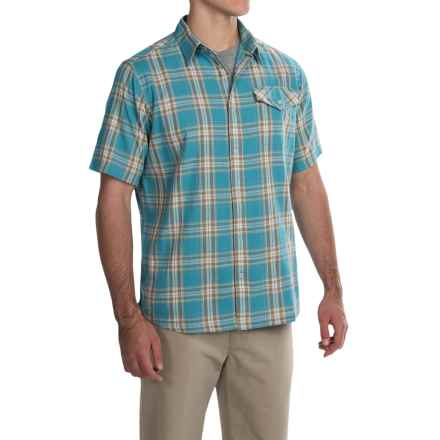 Mountain Khakis Shoreline Shirt - Short Sleeve (For Men) in Tide Water - Closeouts