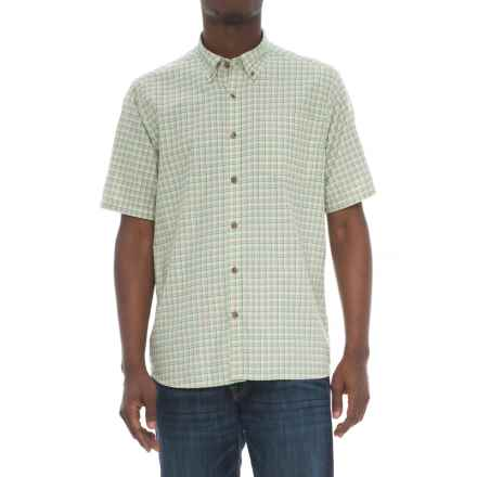 Mountain Khakis Spalding Gingham Shirt - Short Sleeve (For Men) in Putty - Closeouts