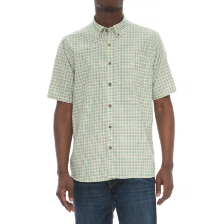 Mountain Khakis Spalding Gingham Shirt - Short Sleeve (For Men) in Putty